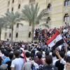 سكان الحى الأول يتظاهرون ضد إزالة حديقة أنشاؤها على نفقتهم الخاصة