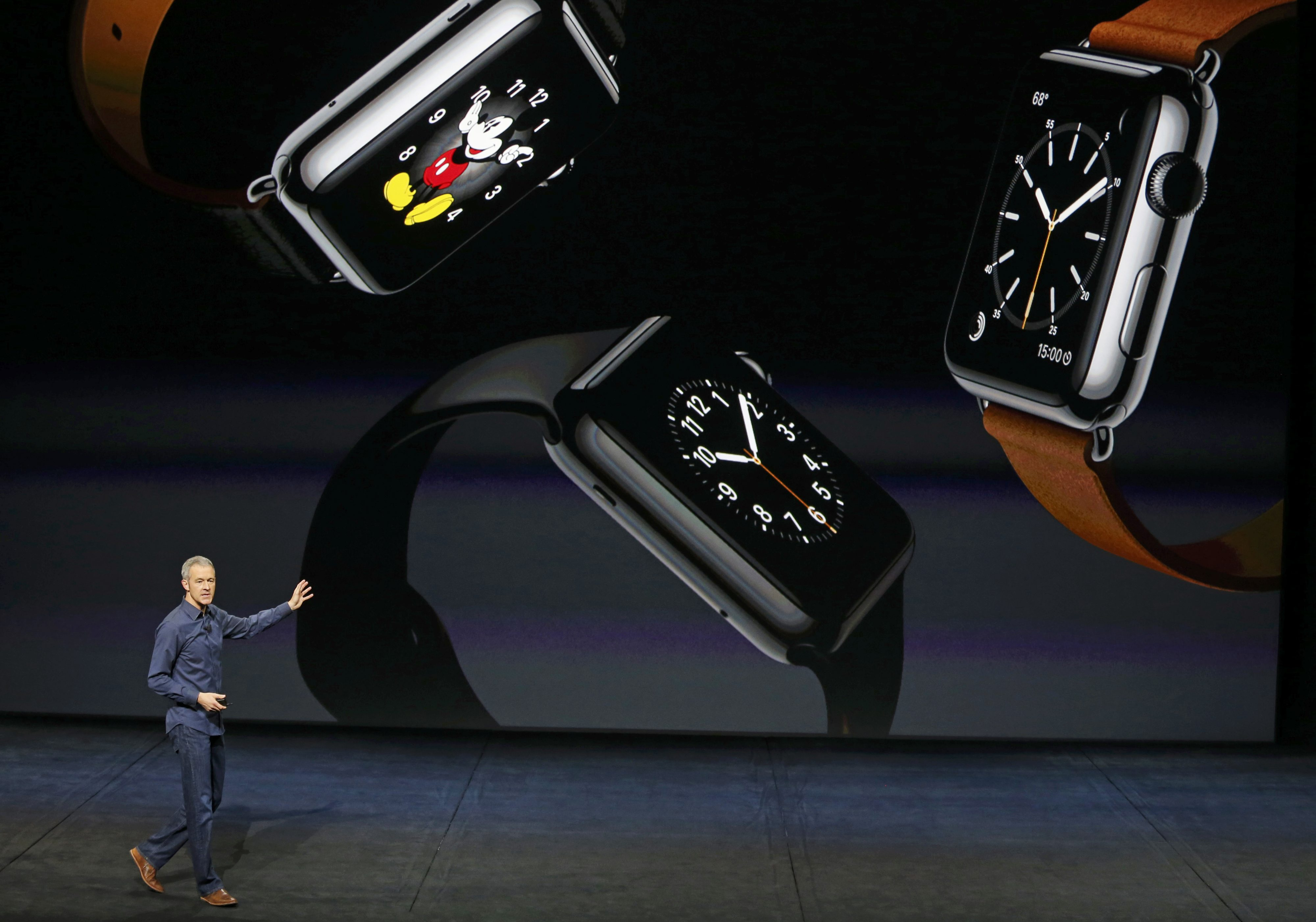 Jeff Williams Apple's senior vice president of Operations, speaks about new finishes for the Apple Watch during an Apple media event in San Francisco, California, September 9, 2015. Reuters/Beck Diefenbach