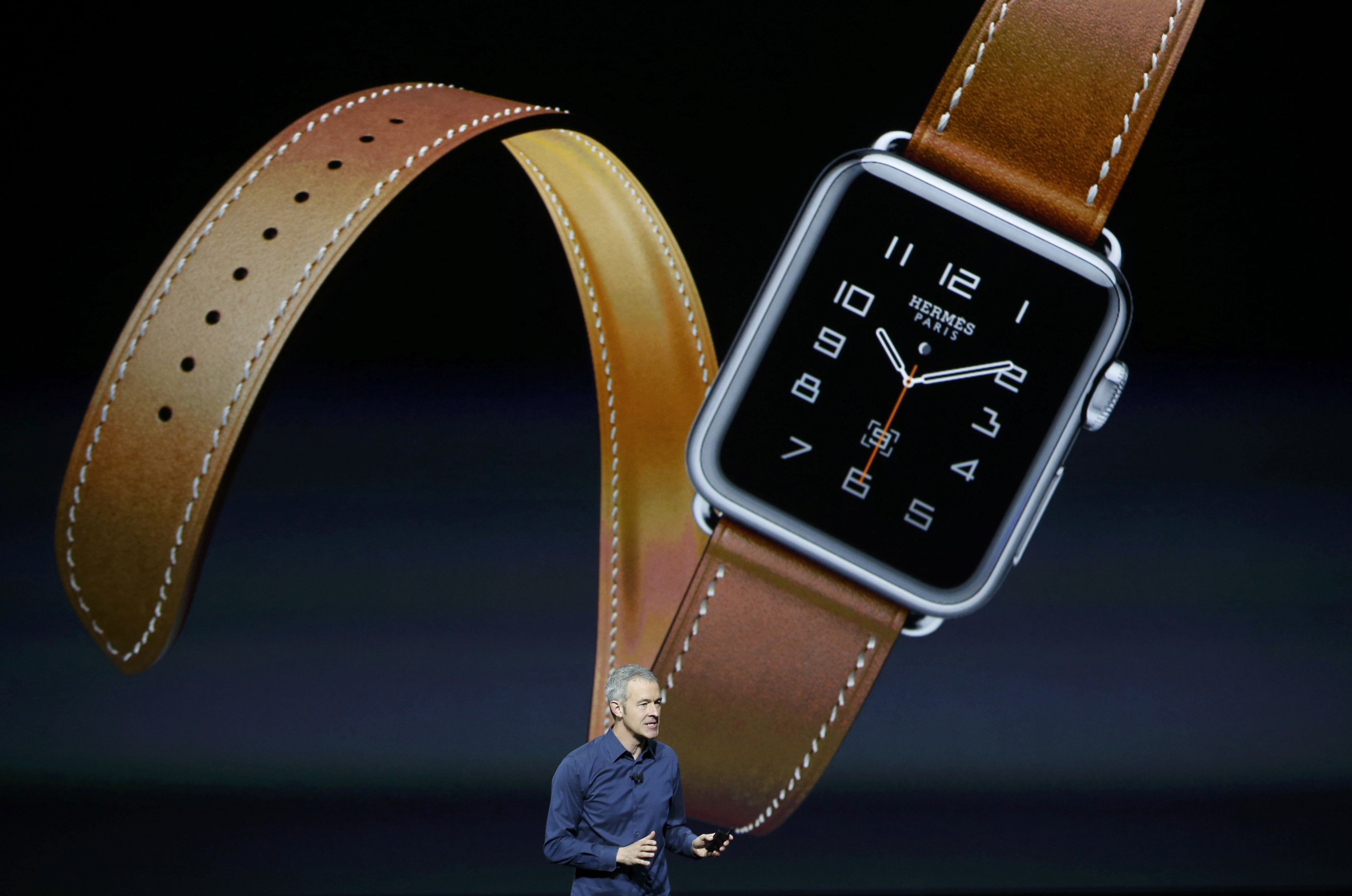 Jeff Williams Apple's senior vice president of Operations, speaks about the Hermes watchband for the Apple Watch, during an Apple media event in San Francisco, California, September 9, 2015. Reuters/Beck Diefenbach